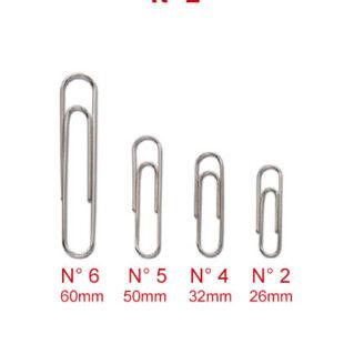 FERMAGLI ZINCATI MARKIN N° 2 - 26 mm