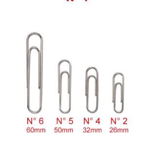 FERMAGLI ZINCATI MARKIN N° 4 - 32 mm
