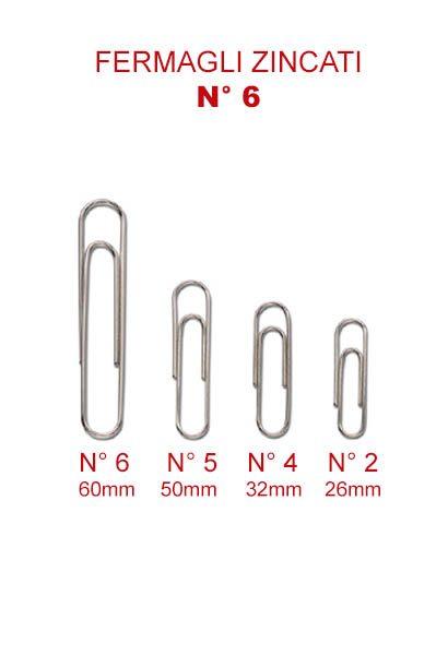 FERMAGLI ZINCATI MARKIN N° 6 - 60 mm