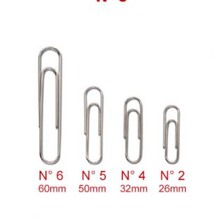 FERMAGLI CROMATI SIAM N° 5 - 50 mm