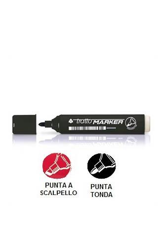 Marcatori Tratto Marker - Nero - punta tonda o a scalpello
