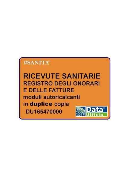 ricevute sanitarie - blocco 50x2 fogli