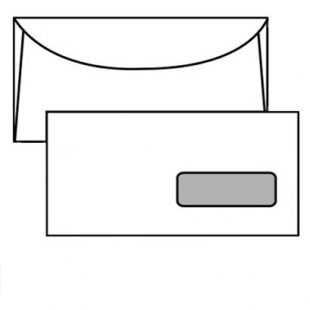Busta commerciale 11x23cm con finestra
