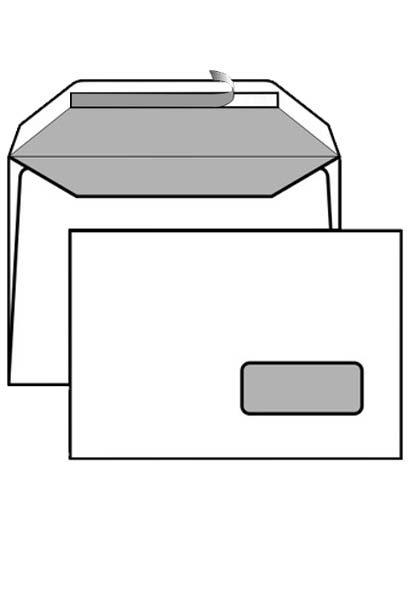 Busta 16x23cm con strip e finestra