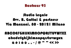 Bauhaus 93