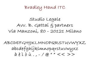 Bradley Hand ITC