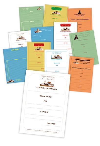 Cartelline uso atti 24x33 (personalizzate in quadricromia)