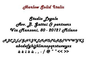 Harlow Solid Italic