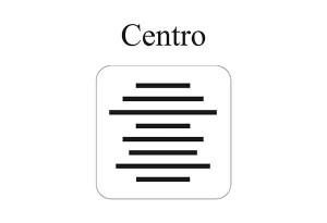 Allineamento al centro