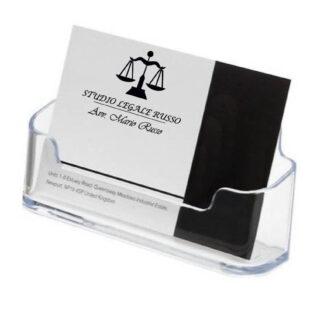 Porta bigliettini in plexiglass